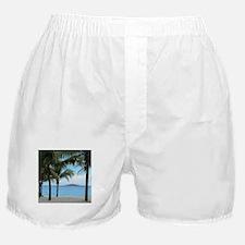 Nassau Bahamas Palms and Lighthouse Boxer Shorts