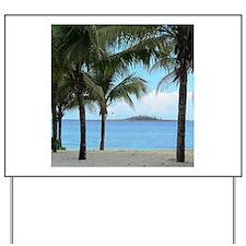 Nassau Bahamas Palms and Lighthouse Yard Sign