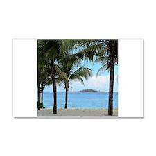 Nassau Bahamas Palms and Lighthouse Car Magnet 20