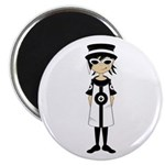 """Sixties Mod Girl 2.25"""" Magnet (10 pack)"""