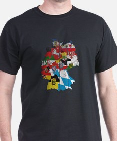 Germany Subdivision Flag And Map T-Shirt