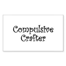 Compulsive Crafter Rectangle Decal
