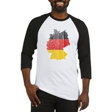 Germany Flag And Map Baseball Jersey