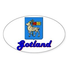 Gotland County Oval Decal