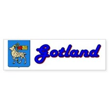 Gotland County Bumper Bumper Sticker