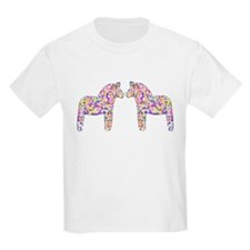 Multi-colored Dala Horse T-Shirt