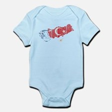 Greece Turkey Cyprus Flag And Map Infant Bodysuit