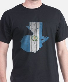 Guatemala Flag And Map T-Shirt
