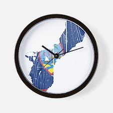 Guam Flag And Map Wall Clock
