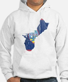 Guam Flag And Map Hoodie