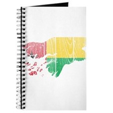 Guinea Bissau Flag And Map Journal