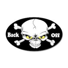 Back Off 38.5 x 24.5 Oval Wall Peel