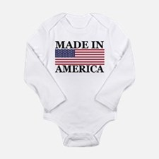 Made in America Long Sleeve Infant Bodysuit