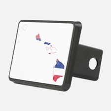 Hawaii Flag And Map Hitch Cover
