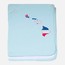 Hawaii Flag And Map baby blanket