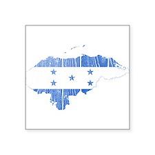 "Honduras Flag And Map Square Sticker 3"" x 3"""