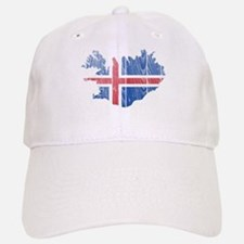 Iceland Flag And Map Baseball Baseball Cap