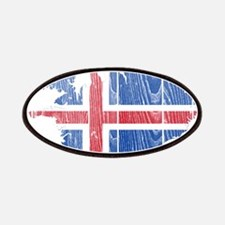 Iceland Flag And Map Patches