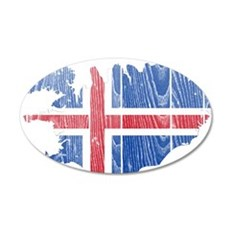 Iceland Flag And Map Wall Decal
