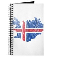Iceland Flag And Map Journal