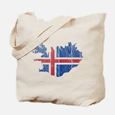 Iceland Flag And Map Tote Bag
