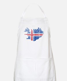 Iceland Flag And Map Apron