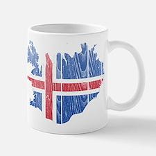 Iceland Flag And Map Mug