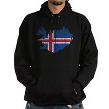 Iceland Flag And Map Hoody