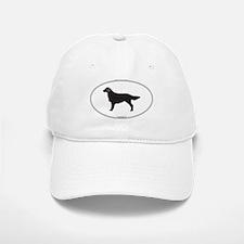 Flat-Coated Silhouette Baseball Baseball Cap