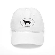 Flat-Coated Silhouette Baseball Cap