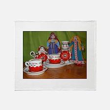 Russian Doll Tea Time Throw Blanket