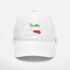 Iran Tri Color Flag And Map Baseball Baseball Cap
