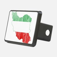 Iran Tri Color Flag And Map Hitch Cover
