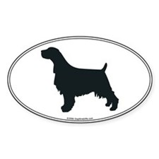 En Springer Silhouette Oval Decal