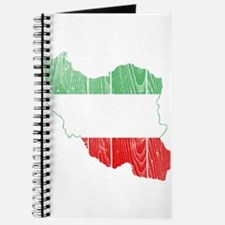 Iran Tri Color Flag And Map Journal