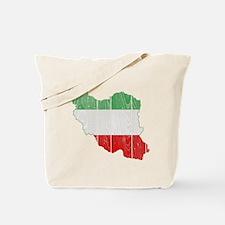 Iran Tri Color Flag And Map Tote Bag