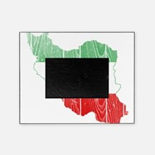 Iran Tri Color Flag And Map Picture Frame