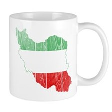 Iran Tri Color Flag And Map Mug