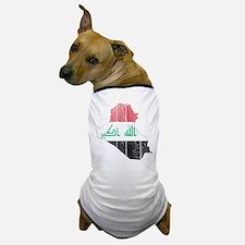 Iraq Flag And Map Dog T-Shirt