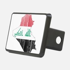 Iraq Flag And Map Hitch Cover