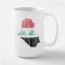 Iraq Flag And Map Mug