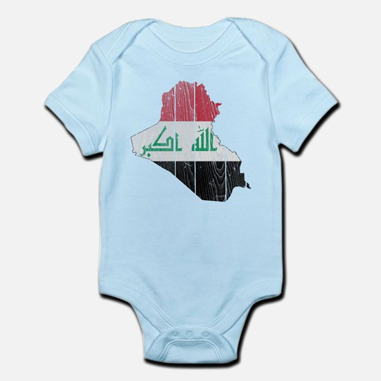 Iraq Flag And Map Infant Bodysuit