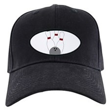 Bowling Ball and Pins Baseball Hat