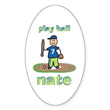Play Ball Nate Oval Decal