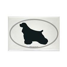 Cocker Spaniel Silhouette Rectangle Magnet