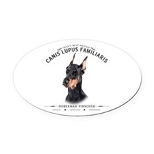 Man's Best Friend Oval Car Magnet