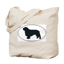 Clumber Spaniel Silhouette Tote Bag