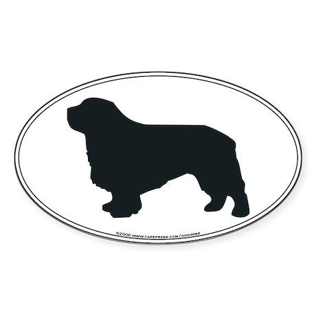 Clumber Spaniel Silhouette Oval Sticker