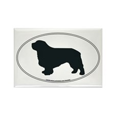 Clumber Spaniel Silhouette Rectangle Magnet
