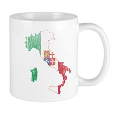 Italy Civil Ensign Flag And Map Mug